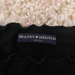 brandy melville off the shoulder cute shirt